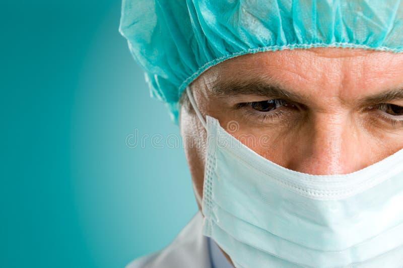 Primer de la cara del cirujano fotos de archivo libres de regalías