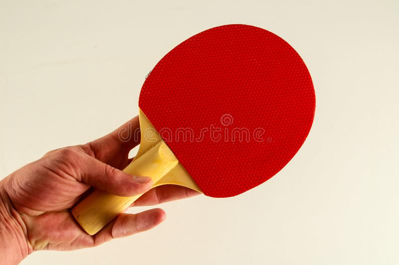 Primer de la estafa del ping-pong foto de archivo