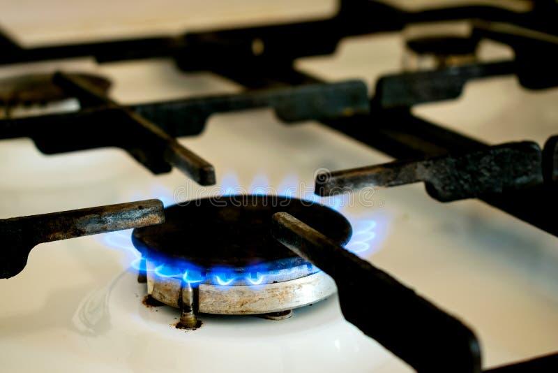 Primer de la estufa de gas fotografía de archivo libre de regalías