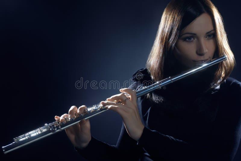 Primer de la flauta foto de archivo libre de regalías
