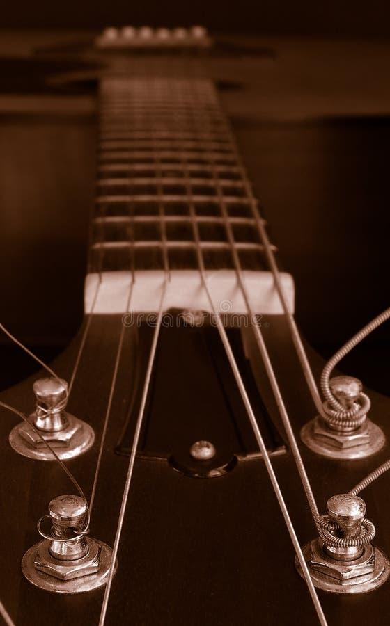 Primer de la guitarra fotos de archivo libres de regalías