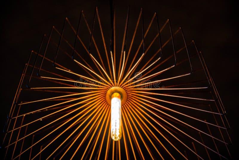 Primer de la lámpara de la res muerta del alambre de cobre imagen de archivo