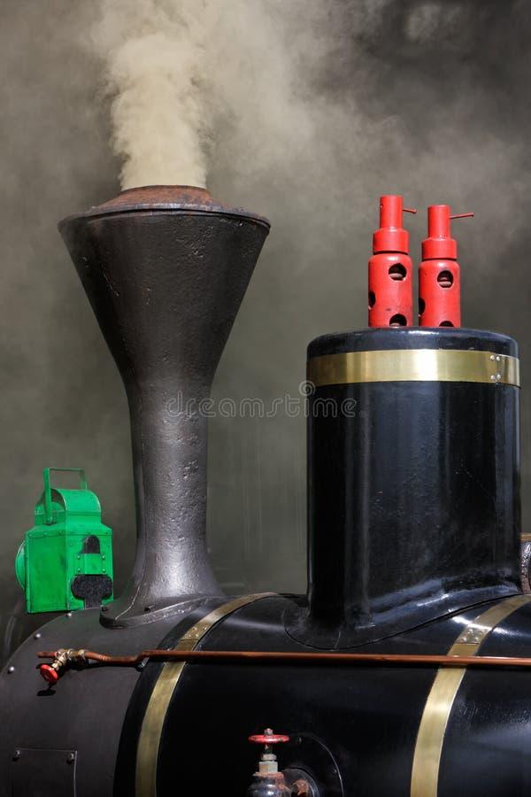 Primer de la locomotora de vapor imagenes de archivo