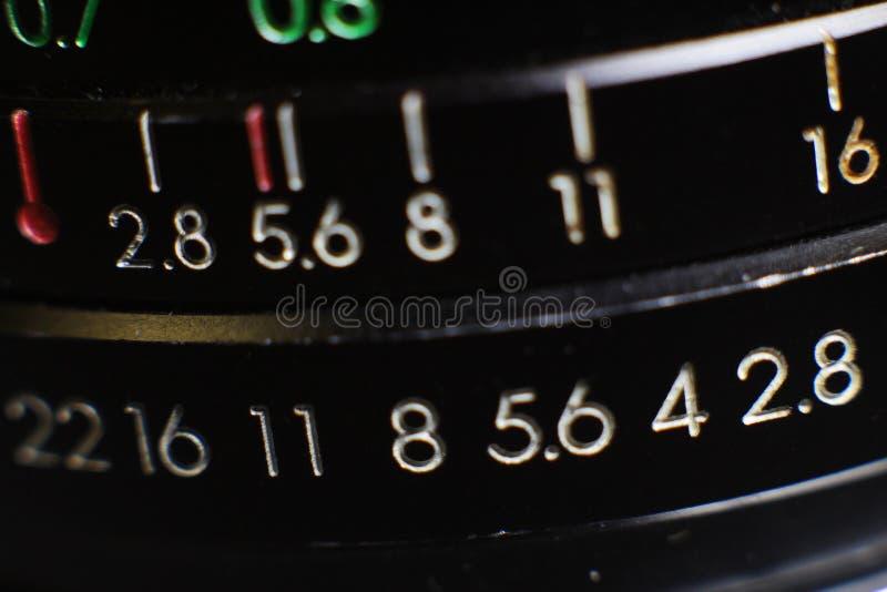 Primer de la macro de la lente de cámara fotos de archivo libres de regalías