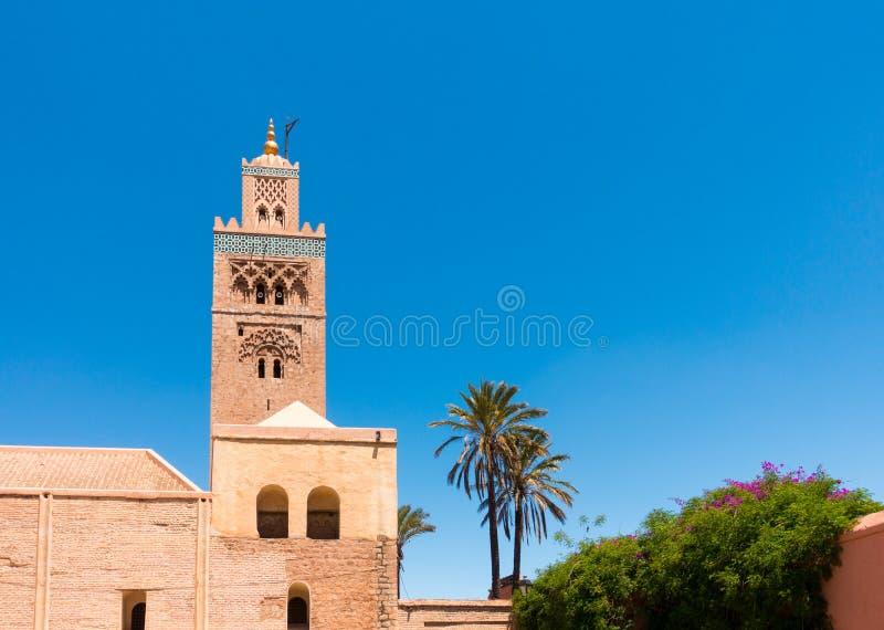 Primer de la mezquita Marrakesh de Koutoubia imagen de archivo libre de regalías