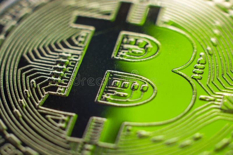 Primer de la moneda de la moneda del monet de Bitcoin imagen de archivo libre de regalías