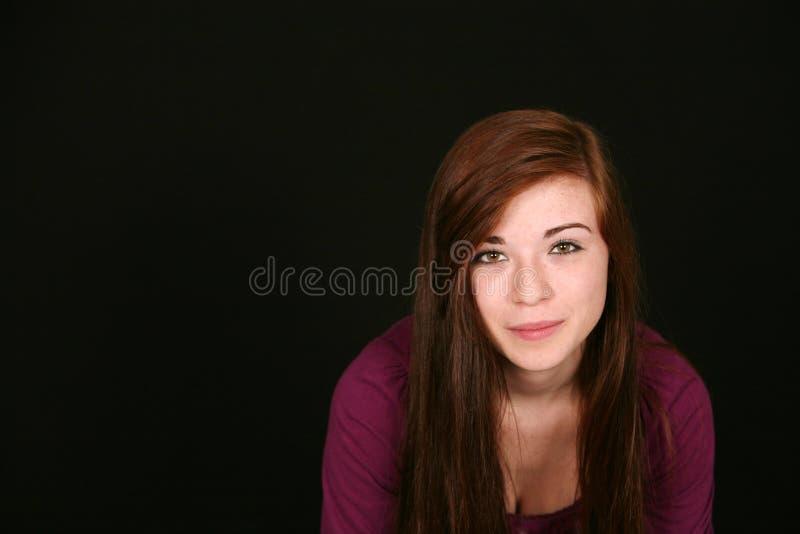Primer de la muchacha bonita imagen de archivo