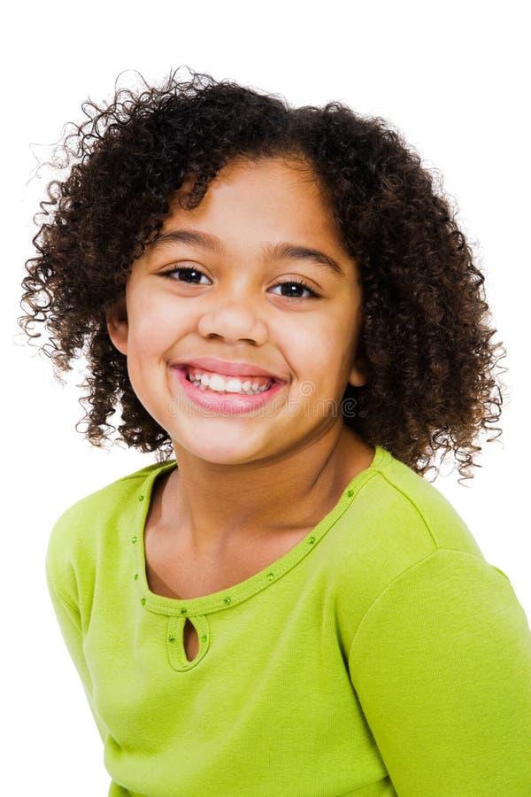 Primer de la muchacha feliz imagenes de archivo