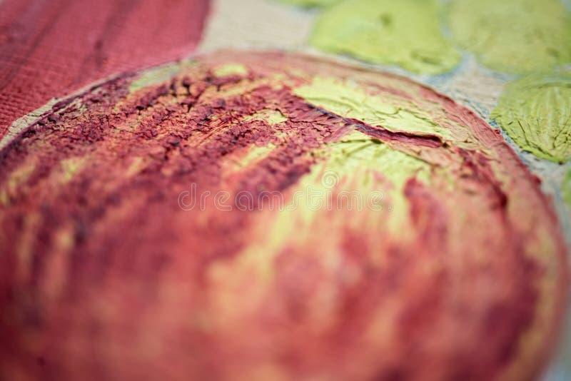 Primer de la pintura al óleo fotografía de archivo libre de regalías