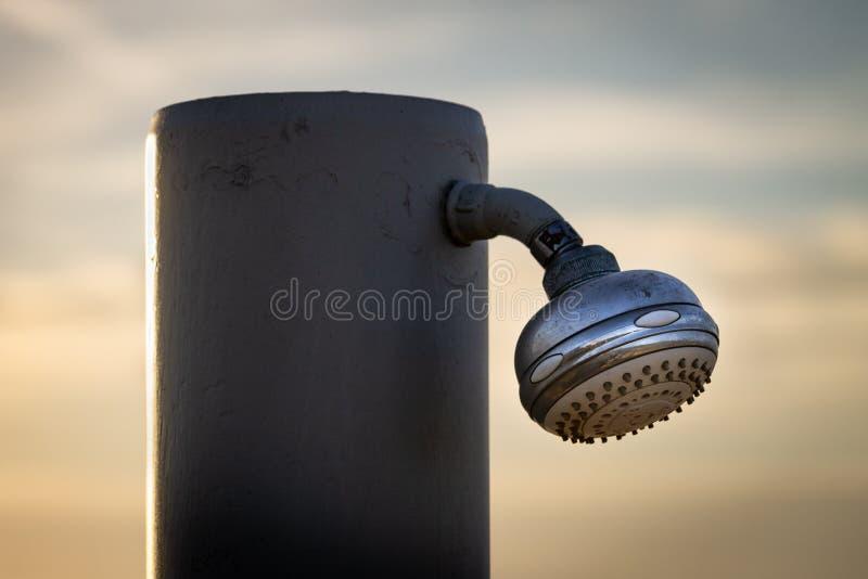Primer de la regadera de la ducha imagen de archivo libre de regalías