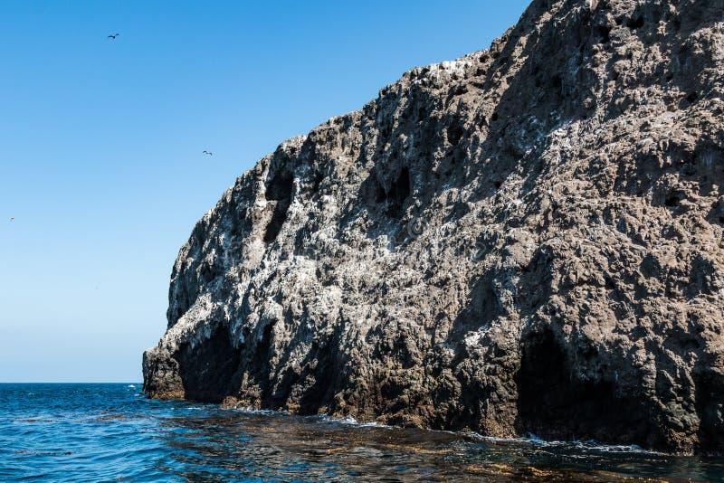 Primer de la roca volcánica que compone la isla de Anacapa imagen de archivo libre de regalías