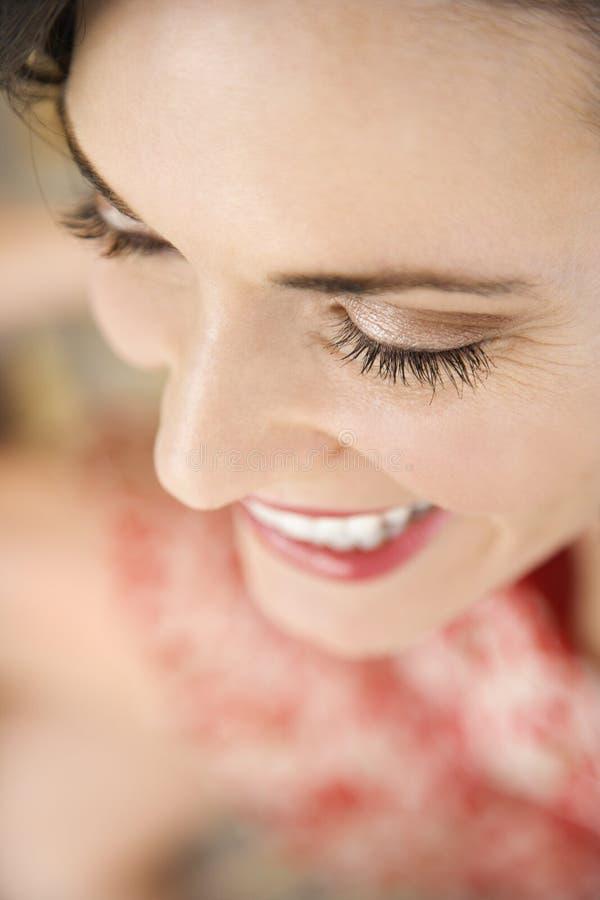Primer de la sonrisa de la mujer. foto de archivo libre de regalías