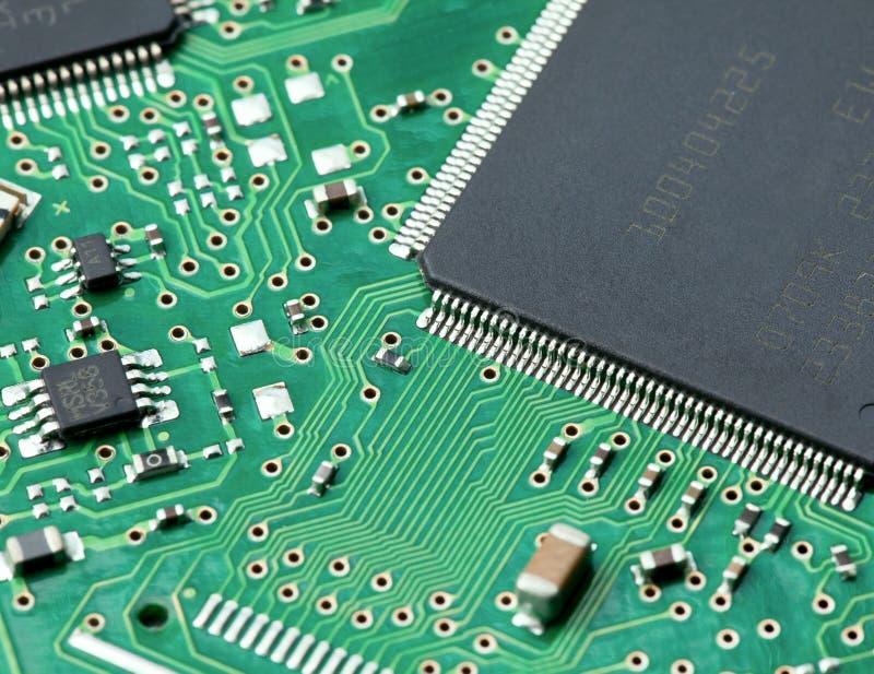 Primer de la tarjeta de circuitos de ordenador imagen de archivo libre de regalías