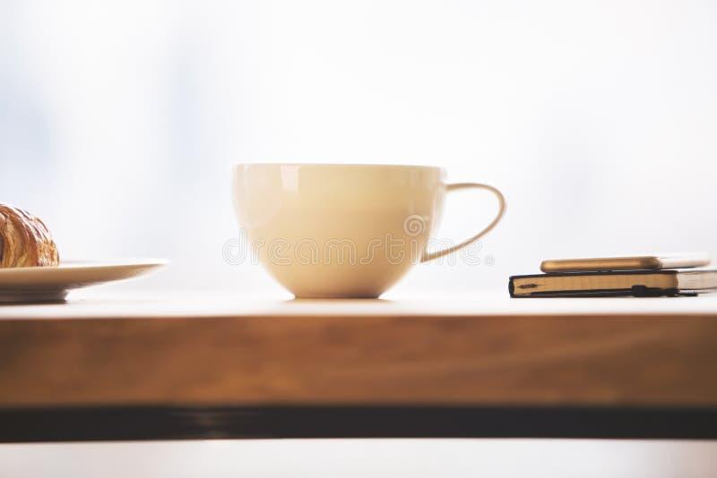 Primer de la taza de café fotos de archivo