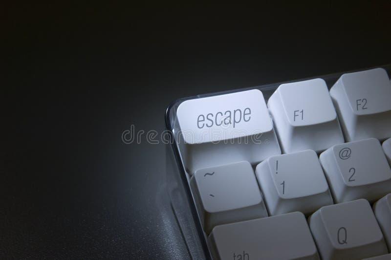 Primer de la tecla de escape fotos de archivo