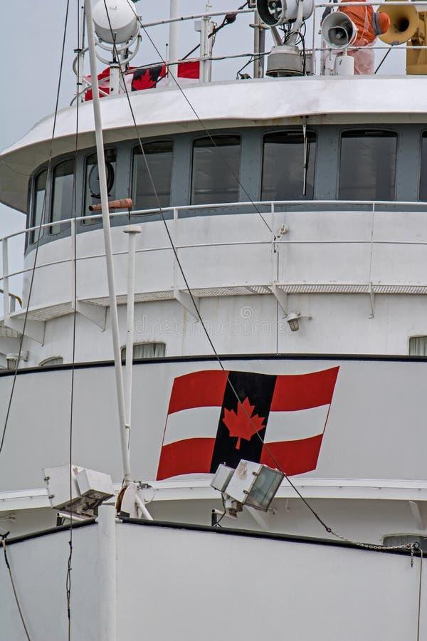 Primer de la timonera del carguero de Great Lakes foto de archivo