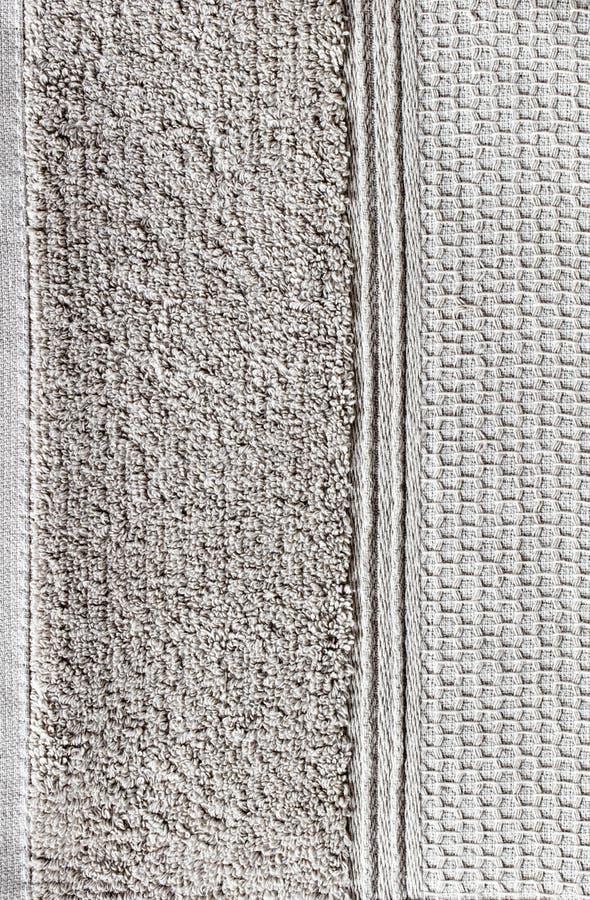 Primer de la toalla suave natural del algodón con la frontera del panal, papel pintado imagenes de archivo