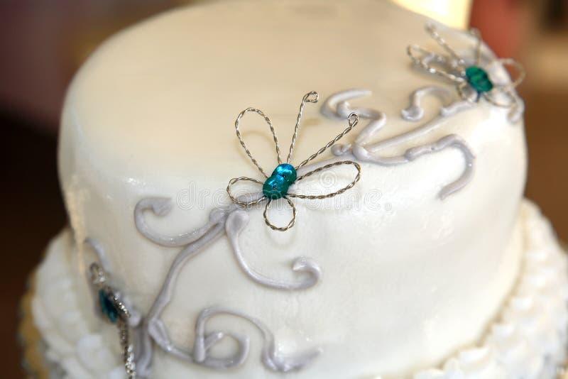 Primer de la torta de boda fotos de archivo libres de regalías