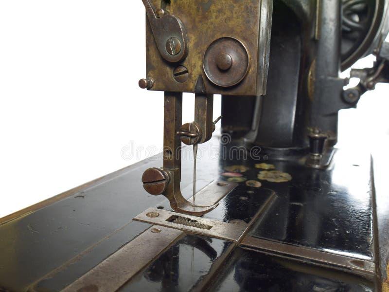 Primer de la unidad del pie del presser de la máquina de coser del vintage fotografía de archivo