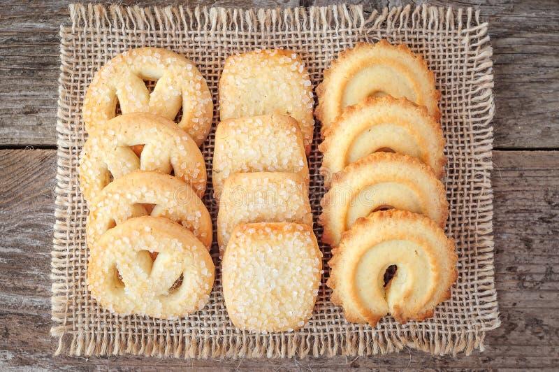 Primer de las galletas de mantequilla fotos de archivo libres de regalías
