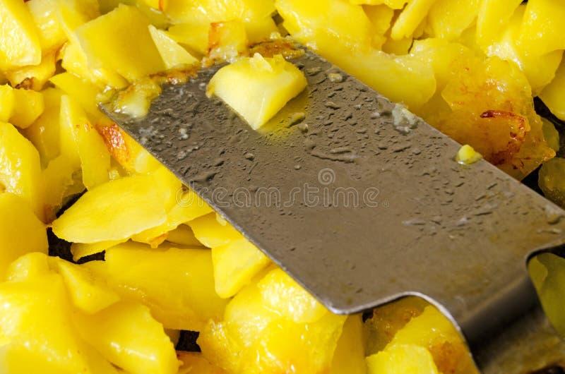 Primer de las patatas de la asación imagen de archivo libre de regalías