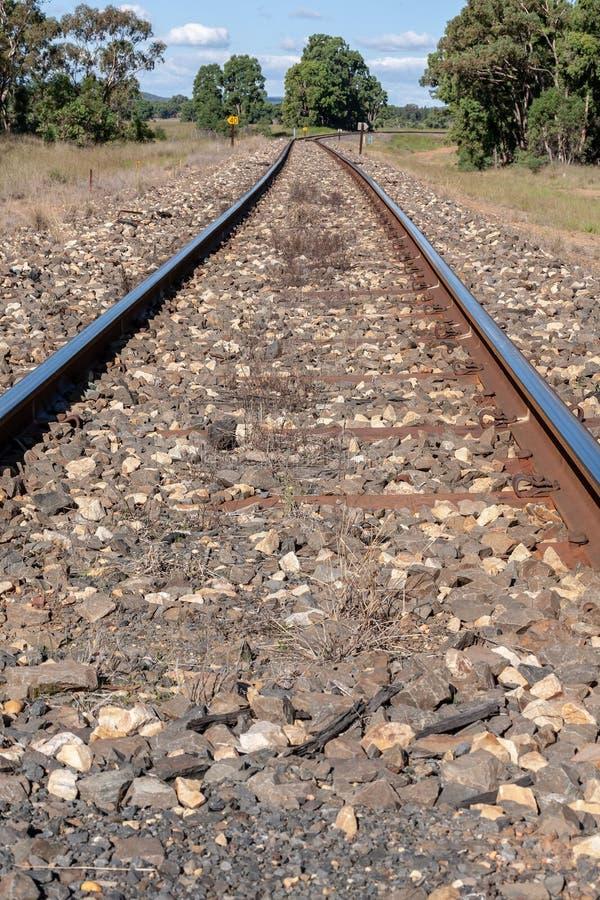 Primer de las pistas ferroviarias de NSW Australia fotos de archivo libres de regalías