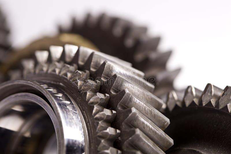 Primer de las ruedas de engranaje foto de archivo