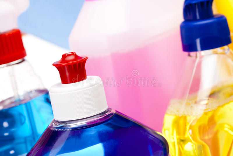 Primer de los detergentes fotografía de archivo libre de regalías