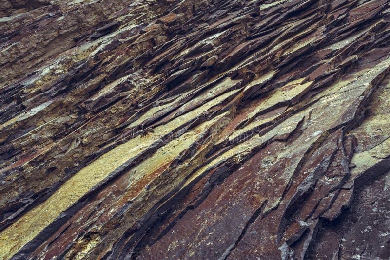 Primer de los estratos de la roca fotografía de archivo