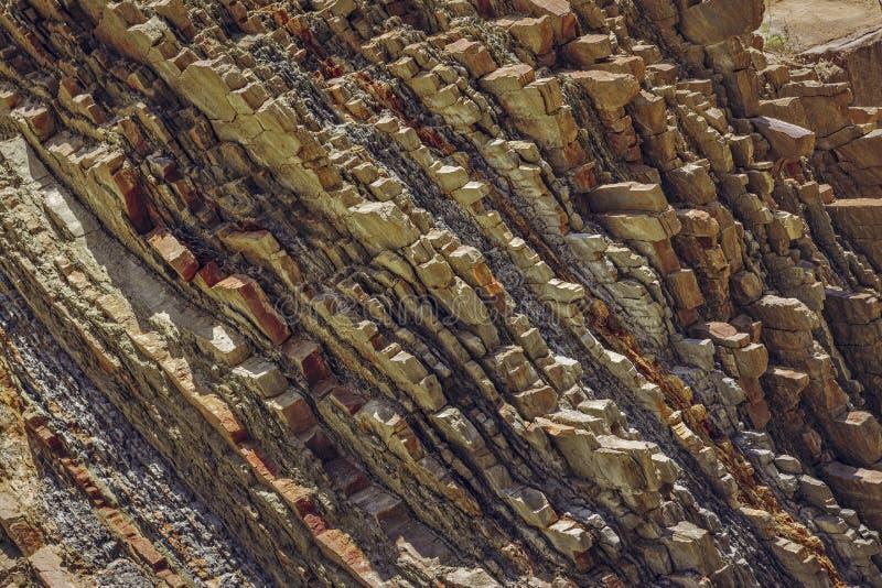 Primer de los estratos de la roca fotografía de archivo libre de regalías