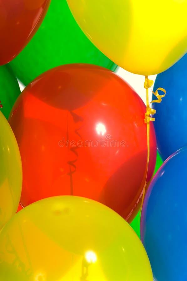 Primer de los globos del partido imágenes de archivo libres de regalías