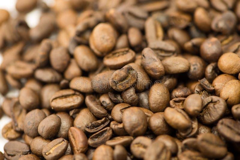 Primer de los granos de café imagen de archivo