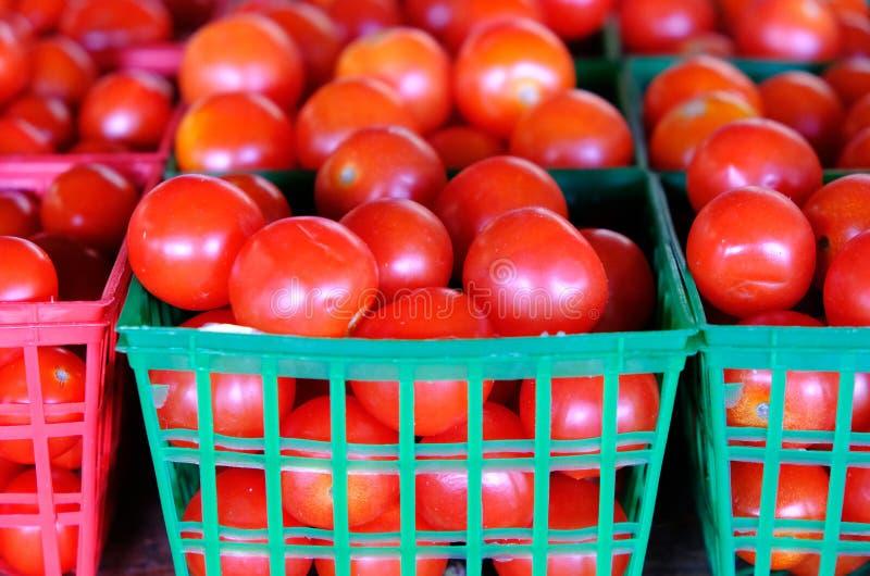 Primer de los tomates de cereza para el ingrediente alimentario imágenes de archivo libres de regalías