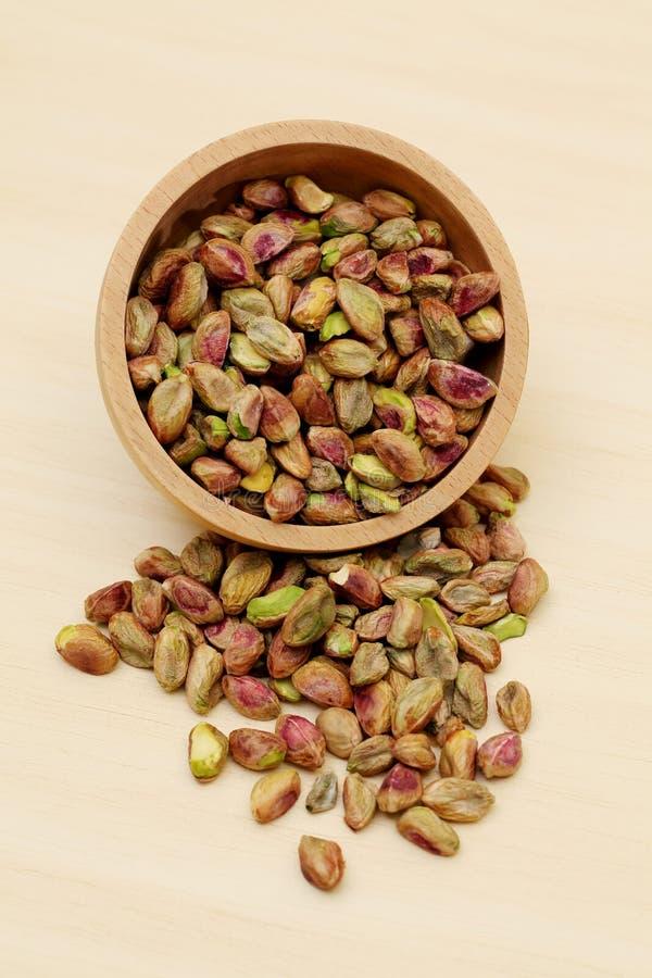 Primer de pistachos frescos imagen de archivo libre de regalías