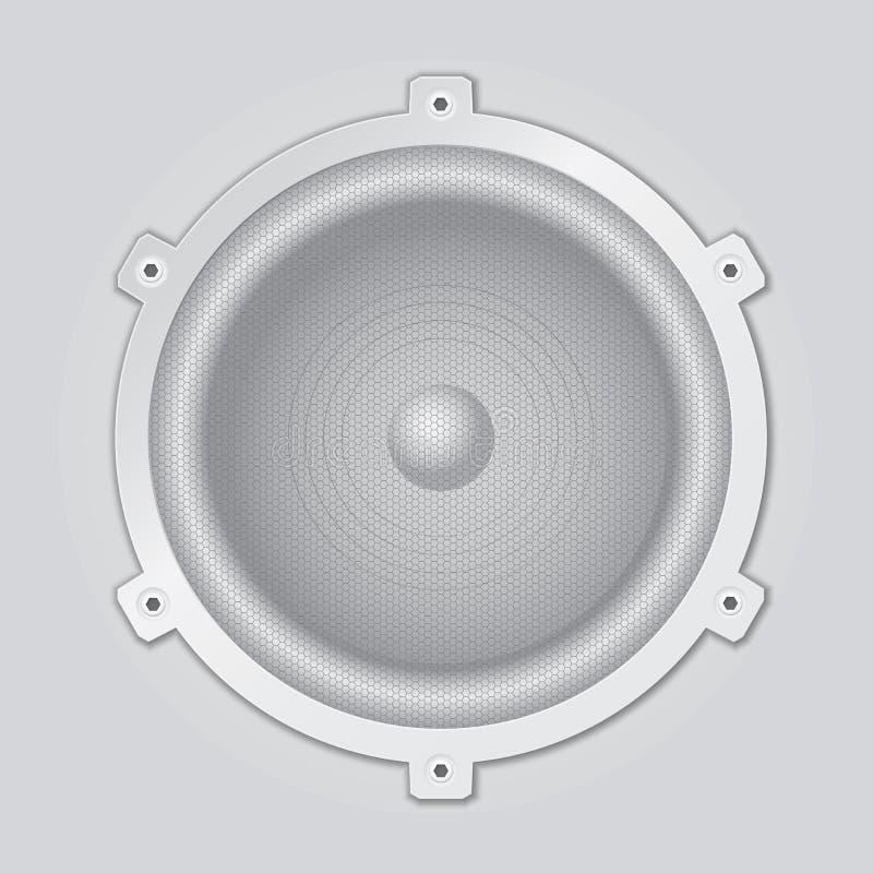 Primer de plata del altavoz - vector ilustración del vector