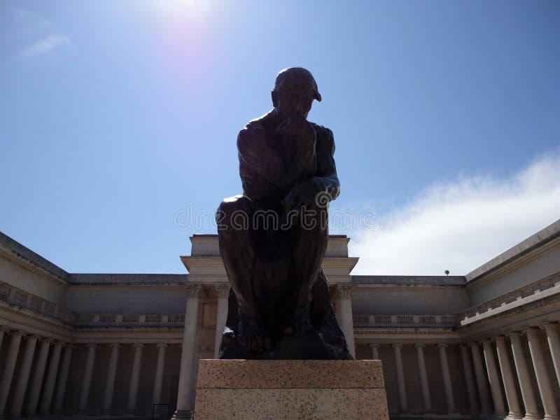 Primer de Rodin Thinker imagen de archivo libre de regalías