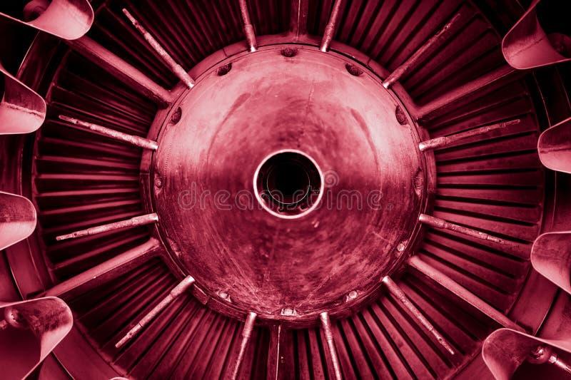 Primer de un motor a reacción imagen de archivo