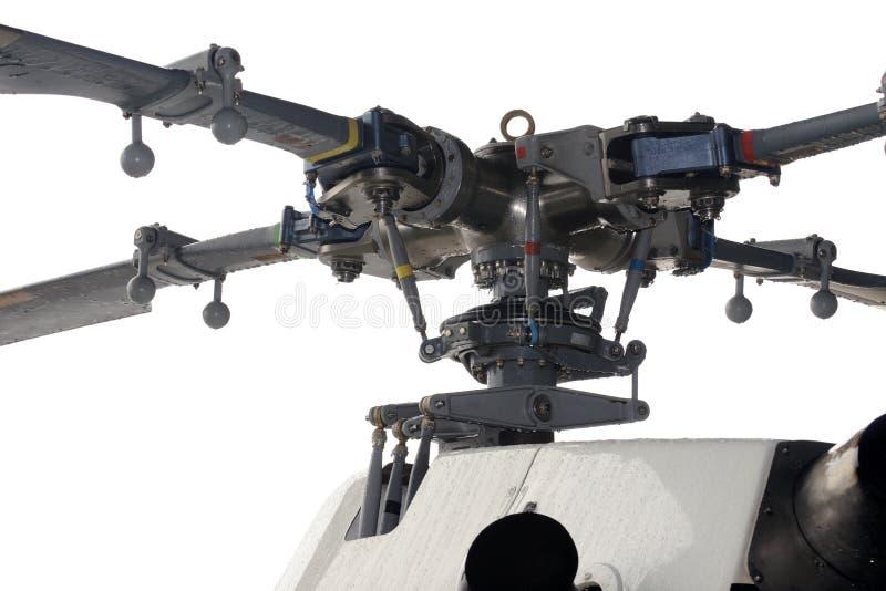 Primer de un rotor del helicóptero imagen de archivo