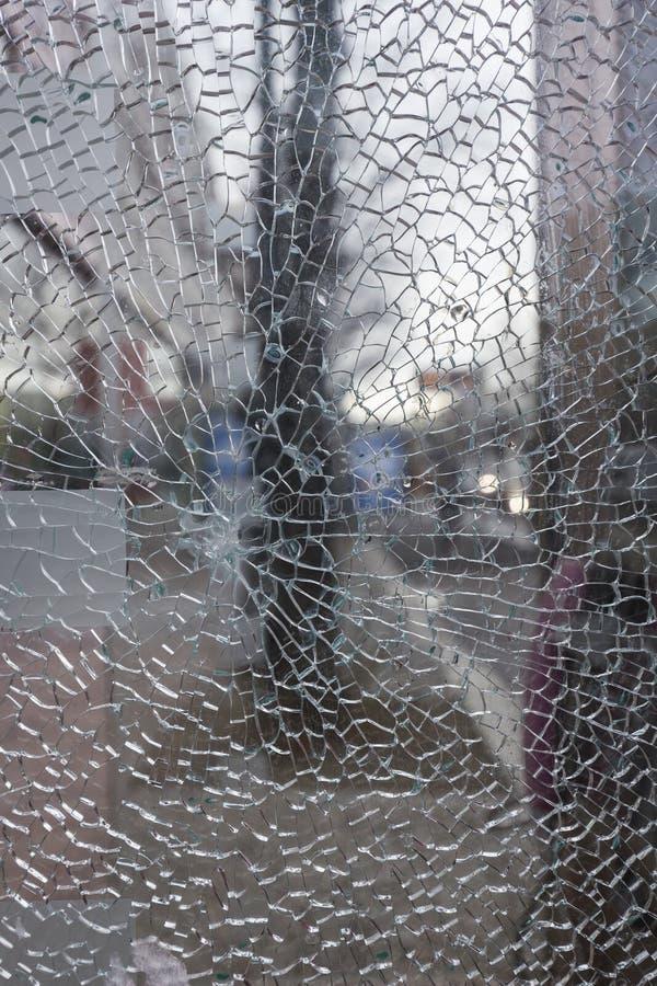 Primer de un vidrio roto foto de archivo libre de regalías