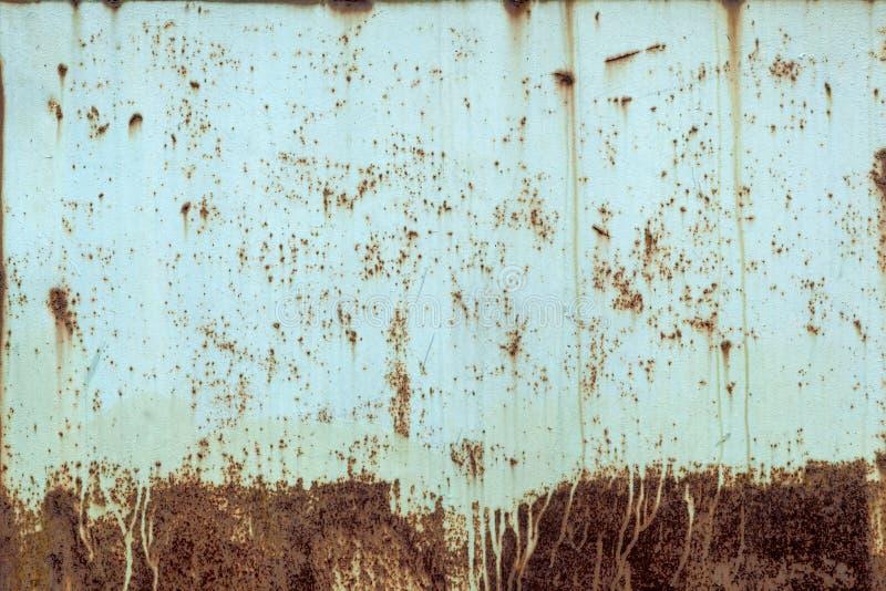 Primer de una acería estropeada vieja amarilla Textura oxidada del metal fotos de archivo libres de regalías
