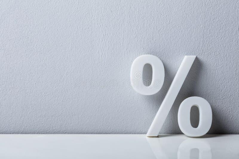 Primer de una muestra de porcentaje fotografía de archivo