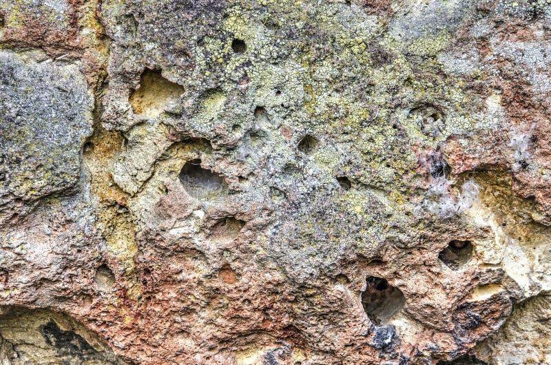 Primer de una pared de piedra de la marga fotos de archivo libres de regalías