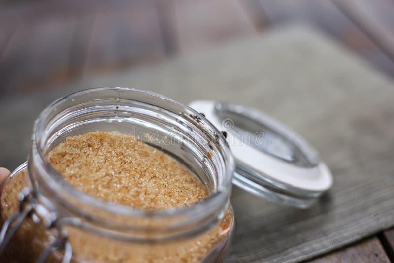 Primer del azúcar marrón fotos de archivo