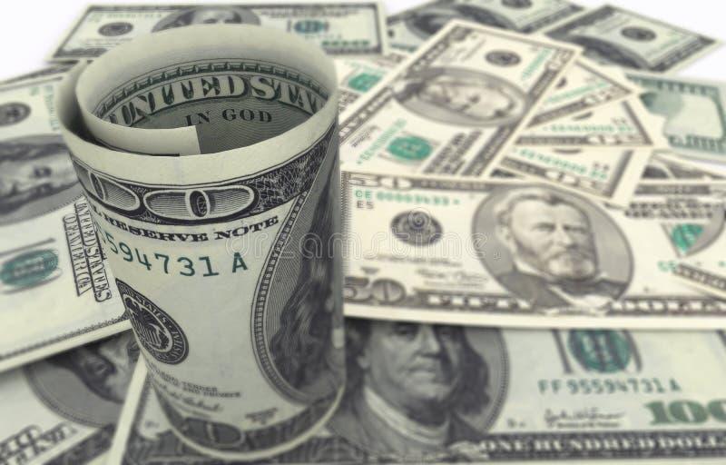 primer del billete de banco de 100 dólares ilustración del vector