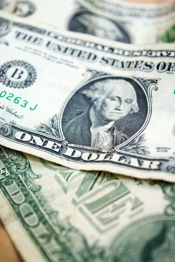 Primer del billete de dólar de los E.E.U.U. uno usd de billete de banco Retrato de George Washington Dinero de Estados Unidos foto de archivo