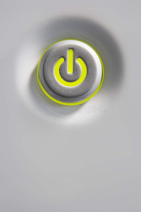 Primer del botón de la potencia imagen de archivo libre de regalías