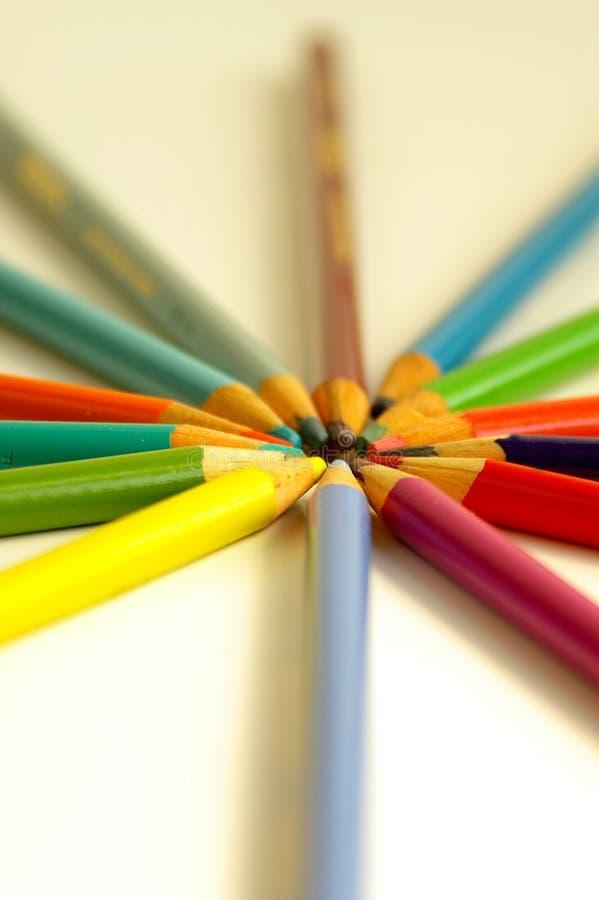 Primer del círculo del lápiz foto de archivo libre de regalías