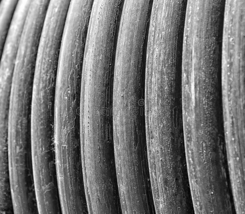 Primer del cable eléctrico foto de archivo