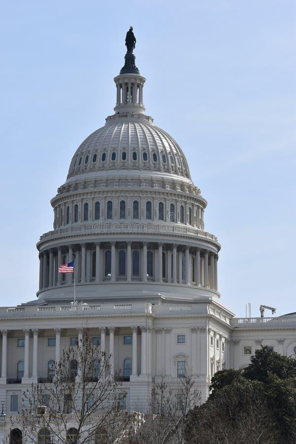Primer del capitolio blanco grande en Washington D C en los E.E.U.U. fotos de archivo libres de regalías