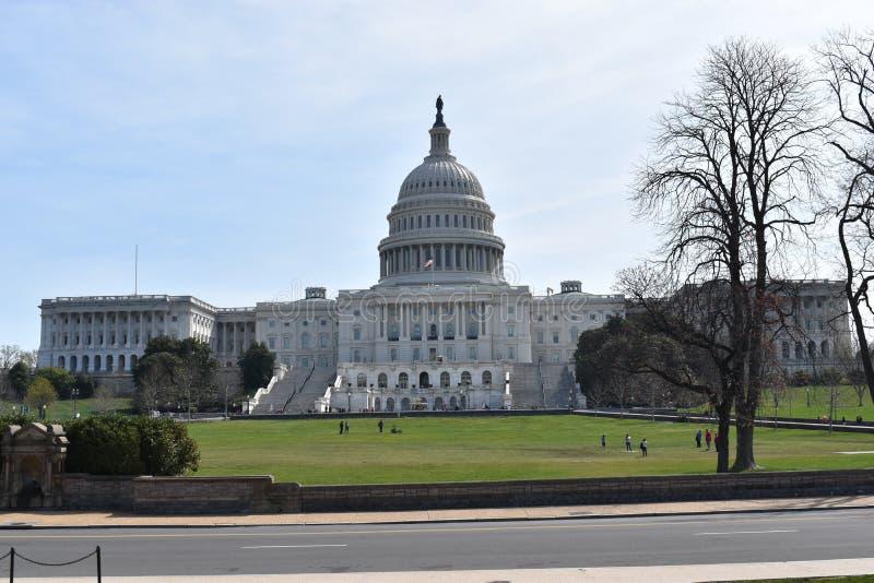 Primer del capitolio blanco grande en Washington D C en los E.E.U.U. fotografía de archivo libre de regalías